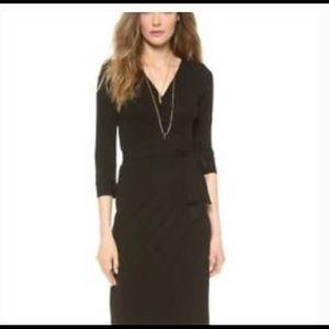 Diana Von Furstenberg Julian Brown Wrap Dress